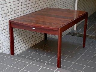 天童木工 TENDO BRASILEIRA ビンテージ ブラジリアンローズウッド 伸長式 EX ダイニングテーブル ■
