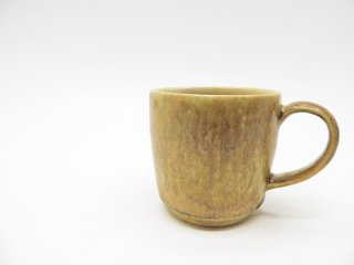 中園晋作 マグカップ 吹付 Φ7.5cm 現代作家 陶器 ●