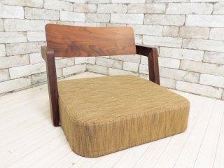 カギロイ KAGIROI BANZAI 座椅子 フロアアームチェア ローチェア 和椅子 小泉誠デザイン ウォールナット ●