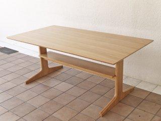 無印良品 MUJI リビングでもダイニングでもつかえる テーブル オーク材 W150cm シンプルデザイン ◇