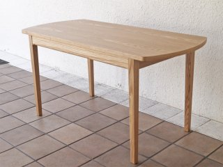 ウニコ unico クラルス CLARUS カフェテーブル リビングテーブル アッシュ材 ナチュラル 廃盤品 未使用 定価¥41,040- ◇