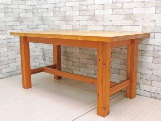 ウニコ unico グロッソ Grosso ダイニングテーブル パイン無垢材 W150cm 廃番 ●