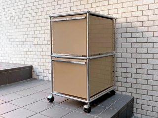 ユーエスエムハラー USM Haller モジュラーファニチャー Modular Furniture ハラーシステム デスクワゴン ハイタイプ USMベージュ ■