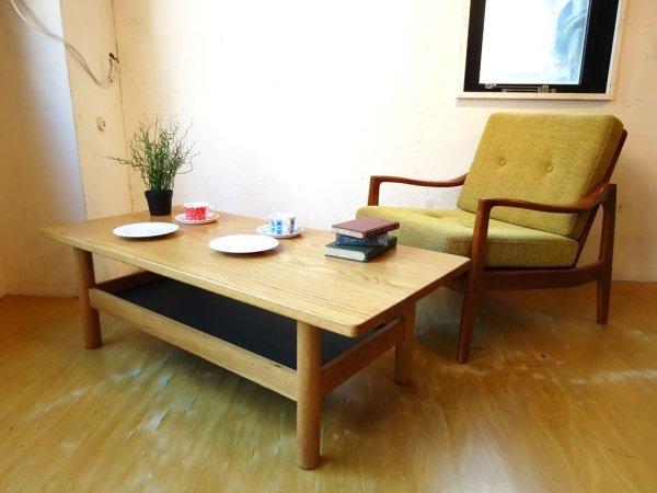 イデー IDEE ディモンシュ ローテーブル DIMANCHE LOW TABLE ホワイトオーク無垢材×ブラックグリーン コーヒーテーブル 現行品 ★