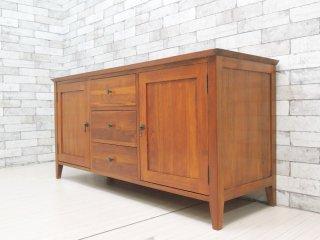 アジアン家具 Asian Furniture サイドボード キャビネット 収納家具 抽斗3杯 W136cm リゾートスタイル バリ家具 ●