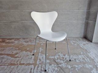 フリッツハンセン Fritz Hansen セブンチェア Seven Chair ホワイトラッカー アルネ・ヤコブセン Arne Jacobsen デンマーク 北欧家具 A ♪