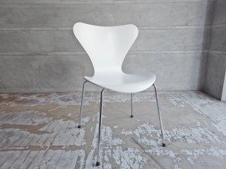 フリッツハンセン Fritz Hansen セブンチェア Seven Chair ホワイトラッカー アルネ・ヤコブセン Arne Jacobsen デンマーク 北欧家具 B ♪