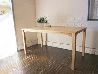 アクタス ACTUS ベベル BEVEL ダイニングテーブル アルダー無垢材 オイル仕上げ ナチュラル 廃番 定価¥86,900- ◎
