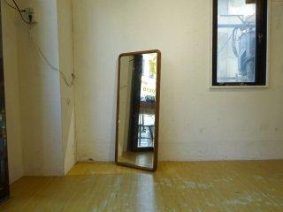 木製フレーム スタイルミラー ウォールミラー 立て掛け鏡 スタンドミラー ★