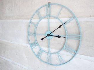 アンティークスタイル ウォールクロック 掛け時計 大型 ラウンド Φ60cm ジャンク品 インテリア用 クラシカル ♪