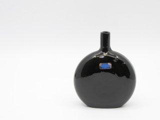ヌータヤルヴィ Nuutajarvi マンシッカパイッカ MANSIKKAPAIKKA デコレーションボトル フラワーベース 一輪挿し ブラック系 H12.5cm オイヴァ・トイッカ ●