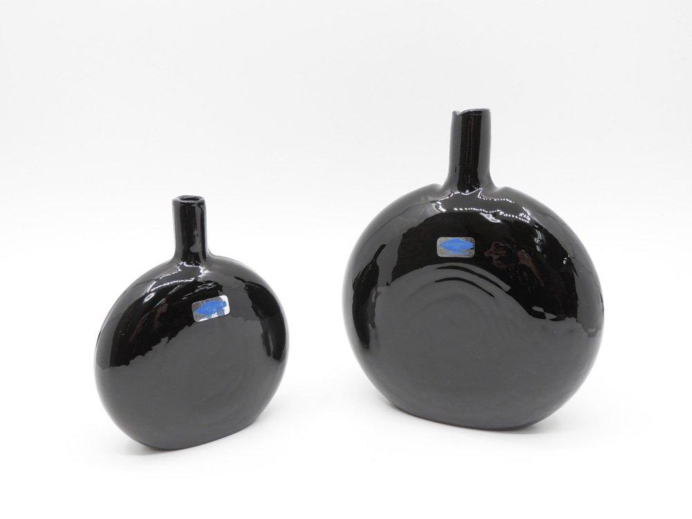 ヌータヤルヴィ Nuutajarvi マンシッカパイッカ MANSIKKAPAIKKA デコレーションボトル フラワーベース 一輪挿し ブラック系 H17cm オイヴァ・トイッカ ●