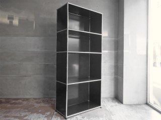 ユーエスエムハラー USM Haller モジュラーファニチャー Modular Furniture ハラーシステム 1×4 H178.5 シェルフ ブラック 定価176,033円 ♪