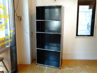 ユーエスエムハラー USM Haller モジュラーファニチャー Modular Furniture ハラーシステム 1×4 シェルフ ブラック ★