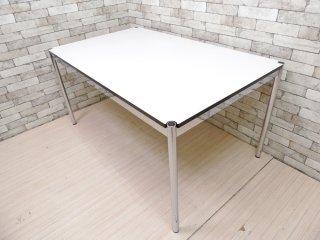 USMモジュラーファニチャー USM Haller USMハラーテーブル ワーキングデスク ダイニングテーブル W150×D90 高さ調整リング付き ホワイト モダンデザイン A ●