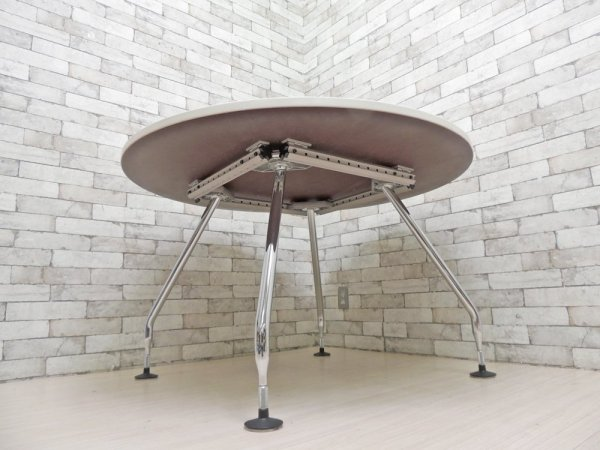 ヴィトラ Vitra アドホック Ad Hoc ラウンドテーブル ワーキングデスク ミーティングテーブル アントニオ・チッテリオ デザイン W120cm ●
