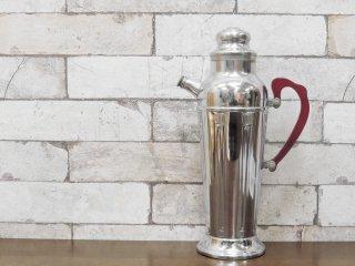 USビンテージ US Vintage アルミ製 ウォーターボトル 取っ手付 アウトドア ディスプレイアイテム  アールデコ調 ●