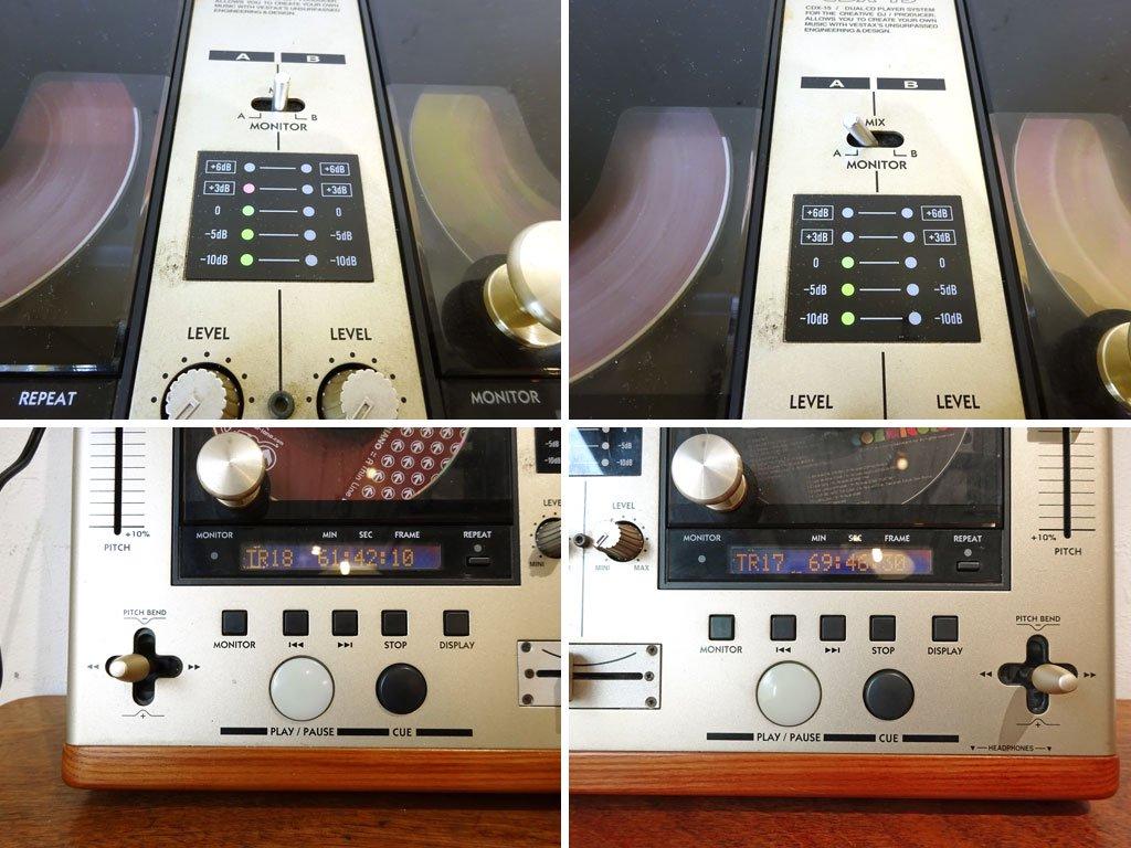ベスタクス VESTAX CDX-15 Professional Dual CD Player デュアルCDプレーヤー CDJ ミキサー 木目 動作確認済 ★