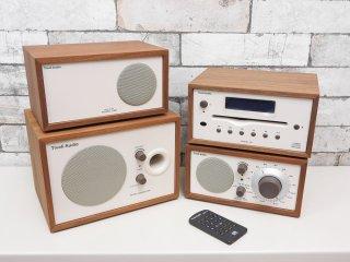 チボリ オーディオ Tivoli Audio MODEL TWO MODEL CD ラジオ サブウーファー スピーカー ヘンリークロス オーディオセット クラシックウォールナット×ベージュ 元箱付 ●