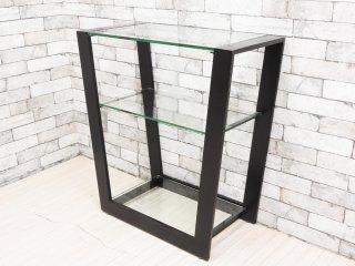 アルテジャパン ARTE JAPAN EM(MT) -004 コンソールテーブル ガラス 2段 ガラステーブル ディスプレイラック モダンデザイン 本体価格\110,770- ●
