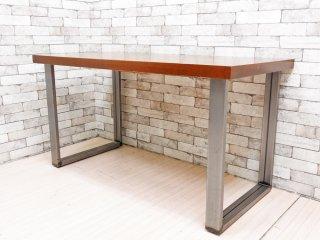 インダストリアルスタイル Industrial Style デスク ワーキングテーブル ウォールナット天板 × 鉄脚 W140cm ●