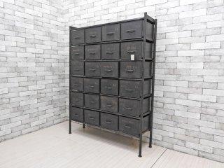 ジャーナルスタンダード journal standard Furniture ギデル GUIDEL 24ドロワーチェスト アイアン インダストリアルデザイン 定価:約13.7万円 ●