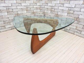 イサムノグチ Isamu Noguchi コーヒーテーブル Coffee Table ガラス天板厚1.9mm リプロダクト品 デザイナーズ家具 名作 ●