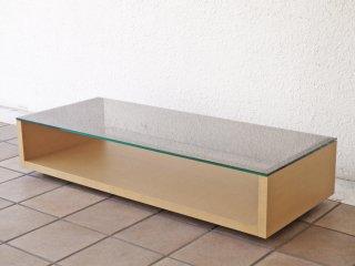 アルフレックス arflex テアト TEATO ガラス オーク材 ローテーブル センターテーブル 廃番品 ◇