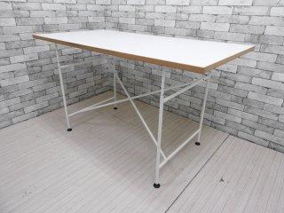 リチャード ランパート RICHARD LAMPERT アイアーマン テーブル W1600 スチールフレーム 白 エゴン・アイアーマン Egon Eiermann ●