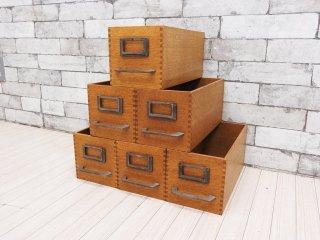 トラックファニチャー TRUCK Furniture エージーボックス AG ボックス Sサイズ 6個セット オーク無垢材 箱型収納 ハンドル&ネームプレート付 E ●