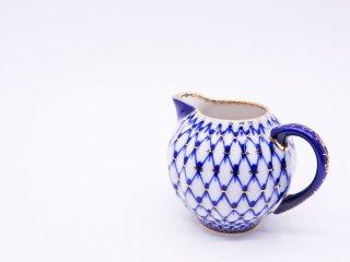 インペリアルポーセリン Imperial Porcelain Manufactory コバルトネット Cobalt Net クリーマー 白磁 ロシア 希少 ●