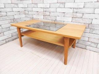 ウニコ unico シグネ SIGNE ローテーブル センターテーブル オーク材 × ガラス ナチュラル 定価:\39,600- ●