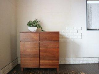 無印良品 MUJI 木製キャビネット W80cm ウォールナット材 木製扉 シンプルデザイン◎