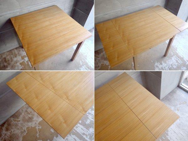 無印良品 MUJI エクステンション ダイニングテーブル 伸長式 タモ材 ナチュラル シンプル ♪