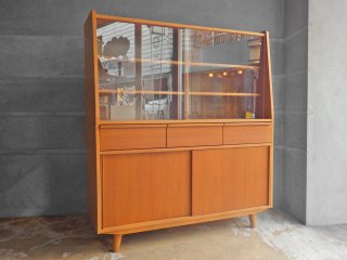 ウニコ unico アルベロ ALBERO カップボード 食器棚 チーク材 北欧ビンテージスタイル ♪