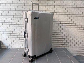 リモワ RIMOWA シルバーインテグラル SILVER INTEGRAL 104L 青ロゴ スーツケース キャリーケース 4輪 マルチホイール ■
