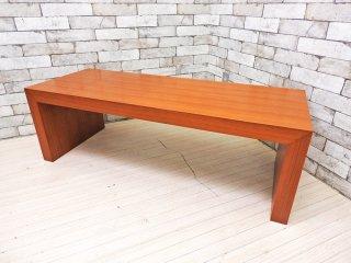 クラスティーナ Crastina チーク材 ローテーブル センターテーブル コの字 シンプルモダン ベンチ ●