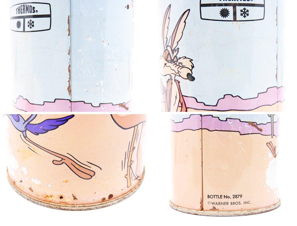 サーモス THERMOS ルーニー・テューンズ Looney Tunes ロードランナー & ワイリー・コヨーテ 水筒 魔法瓶 1960-70s ビンテージ Vintage ●