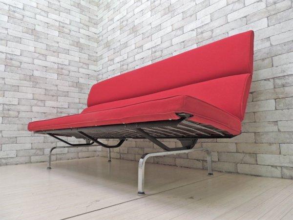 ハーマンミラー Herman Miller イームズソファコンパクト Eames Sofa Compact 3人掛けソファ 折畳可 レッド C&R. イームズ MoMA 参考価格¥775,500- ●