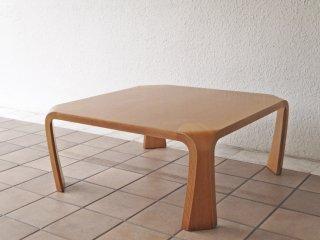 天童木工 Tendo プライウッド 座卓 ケヤキ材 ローテーブル W75cm 乾三郎 デザイン ◇