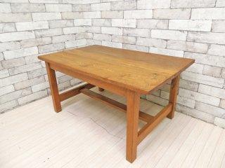ジャパンビンテージ Japan Vintage ローテーブル センターテーブル ナラ無垢集成材 昭和レトロ ●