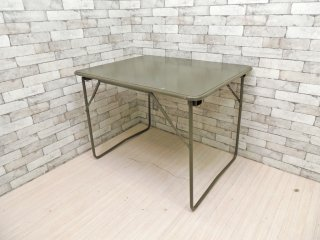 フランス軍 ビンテージ フォールディングテーブル 折り畳みテーブル インダストリアル ミリタリー ワーキングテーブル ●