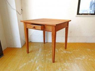 サザビー SAZABY 購入 パイン材 ダイニングテーブル ドロワー付 カントリースタイル 木製ワックス仕上 ★