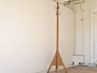 クラッシュゲート CRASH GATE ノットアンティークス Knot antiques タワーコートラック TOWER COAT RACK ホワイトオーク材 スチール 美品 ◇