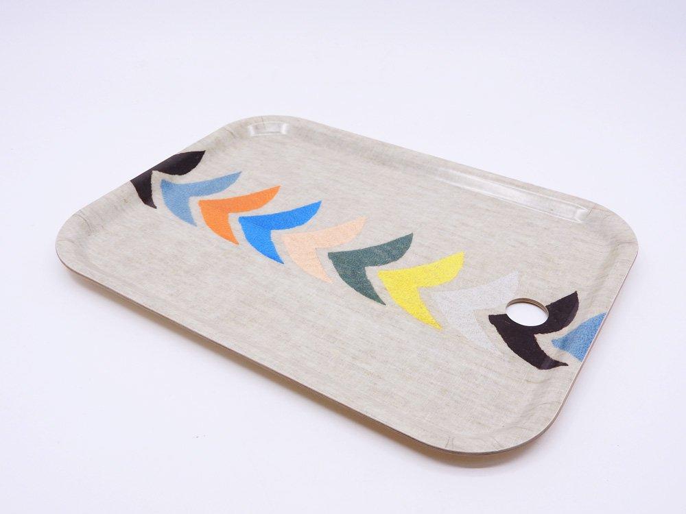 ミナペルホネン mina perhonen バード bird トレイ 小 ベージュ 白樺材 プライウッド W27cm 完売品 皆川明 ●