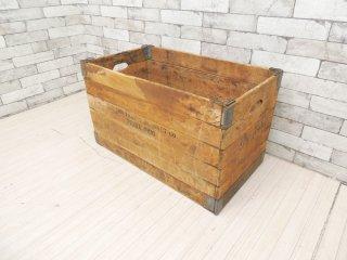 USビンテージ Vintage フォールディングボックス 折り畳みボックス HUBBARD FOLDING BOX Co  木製 40s アメリカ ●