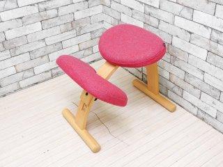 リボ Rybo バランスイージー Balans EASY デスクチェア 学習椅子 ピンク 北欧 ノルウェー ライトグリーン カバー付き ●