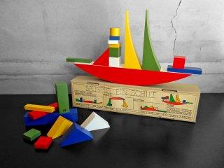 ネフ Naef Spielkultur バウハウス バウスピール Bauhaus Bauspiel アルマ・ジートホフ・ブッシャー 積み木 知育玩具 箱付き スイス ♪