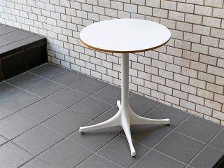 ハーマンミラー Herman Miller ネルソン ペデスタル エンドテーブル NELSON PEDESTAL SIDE TABLE ホワイト ジョージ・ネルソン 定価¥119,900- ■