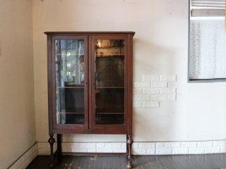 グレゴリーファニチャー gregory furniture mfg co US ヴィンテージ キュリオケース カップボード 飾り棚 食器棚 オーク材 本棚 キャビネット ◎